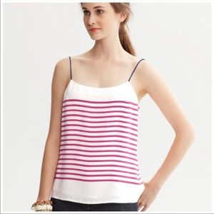 Banana Republic Thin strap Red striped tank
